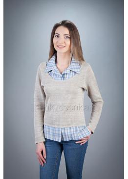 Блуза из льна Силуэт