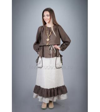 Блуза из льна Славянка