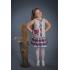 Платье из льна Алиса (серый, клетка)