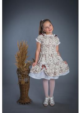 Платье из льна Мальвина (серый)