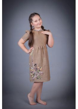 Платье из льна Резеда (бежевый)
