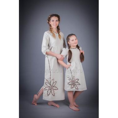 Платье из льна Резеда (натуральный)