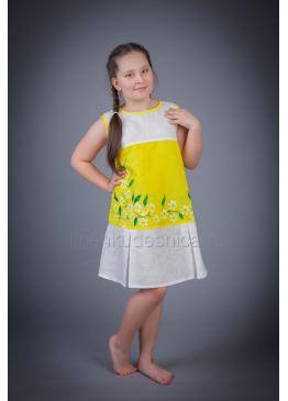 Платье из льна Ромашка детское (желтый)