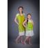 Платье из льна Ромашка детское (зеленый)