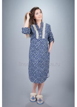 Платье домашнее из хлопка Карина