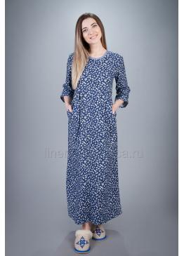 Платье домашнее из хлопка Резеда