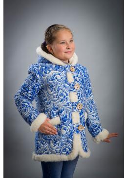 Куртка зимняя из льна Снежинка