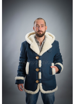 Куртка зимняя из льна Аляска (леопард)