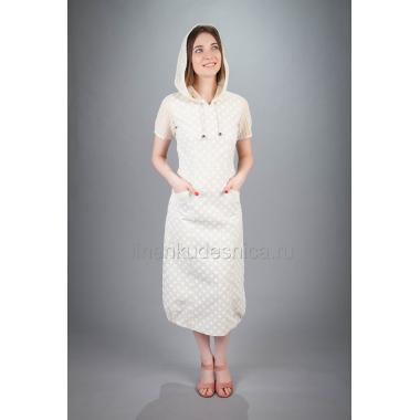 Платье из льна Мозаика (горошек)