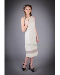 Платье из льна Коктейль (натуральный)