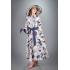 Платье из льна Прованс макси (Синие розы)