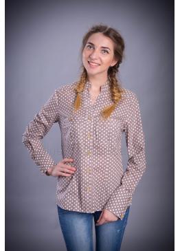 Рубашка из льна Мазурка (горошек)