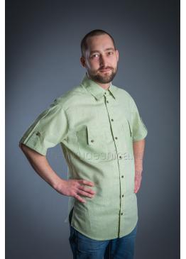 Рубашка из льна Казанова (зеленый)