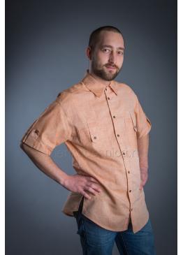 Рубашка из льна Казанова (оранжевый)