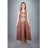Платье из льна Ручеек (мокко)