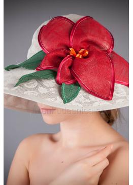 Шляпа женская из льна Гламур