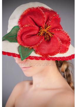 Шляпа женская из льна Мак