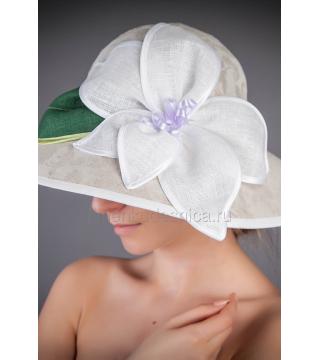 Шляпа женская из льна Парижель