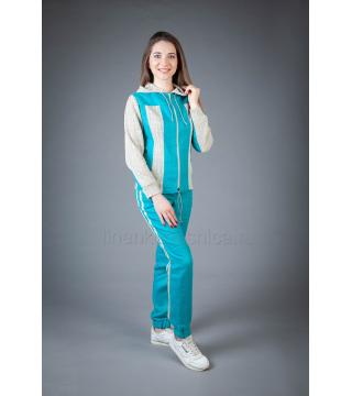Спортивный костюм из льна Ленок (бирюза)
