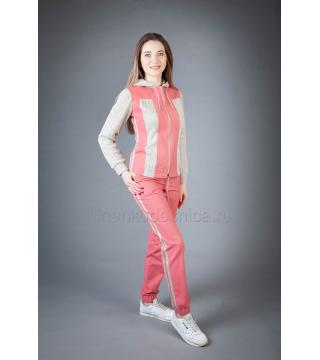 Спортивный костюм из льна Ленок (розовый)