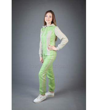 Спортивный костюм из льна Ленок (салатовый)
