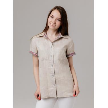 Рубашка из льна 21-02