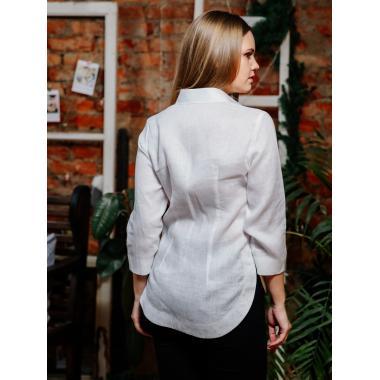 Рубашка из льна 21-03 (белая)