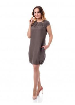 Платье из льна 14-17 Мокко