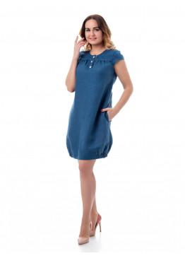 Платье из льна 14-17 Синий
