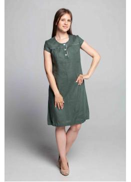Платье из льна 14-17 Полынь
