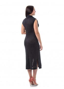 Платье из льна 14-20 А Черный люрекс