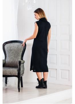 Платье из льна 14-20 Черный