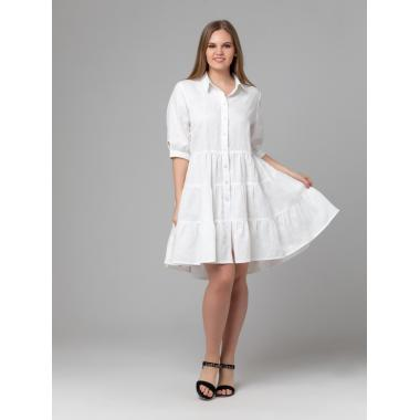 Платье из льна 14-25 Белое