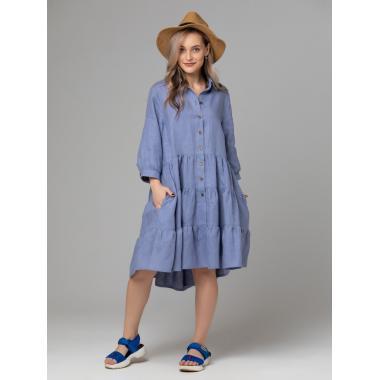 Платье из льна 14-25 Лаванда