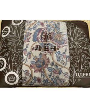 Одеяло льняное 1,5-сп. 140х205см Цветочная вуаль