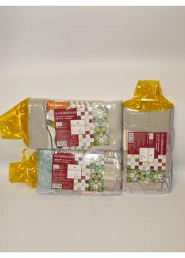 Комплект полотенец подарочный п/л  пестр. 50х70 жакк. Калейдоскоп