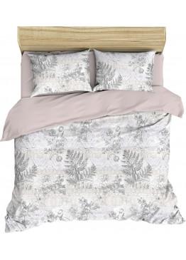 """Комплект льняного постельного белья """"Нежное утро"""" Евро"""