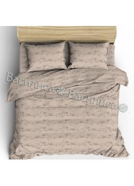 """Комплект льняного постельного белья """"Кошки"""" Полутороспальный"""