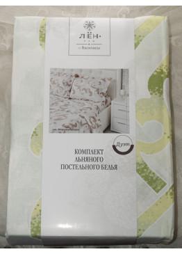 """Комплект льняного постельного белья """"Морозные узоры"""" семейный"""